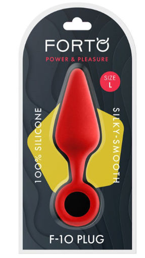 Image de F-10: SILICONE PLUG W/ PULL RING - Rouge Large