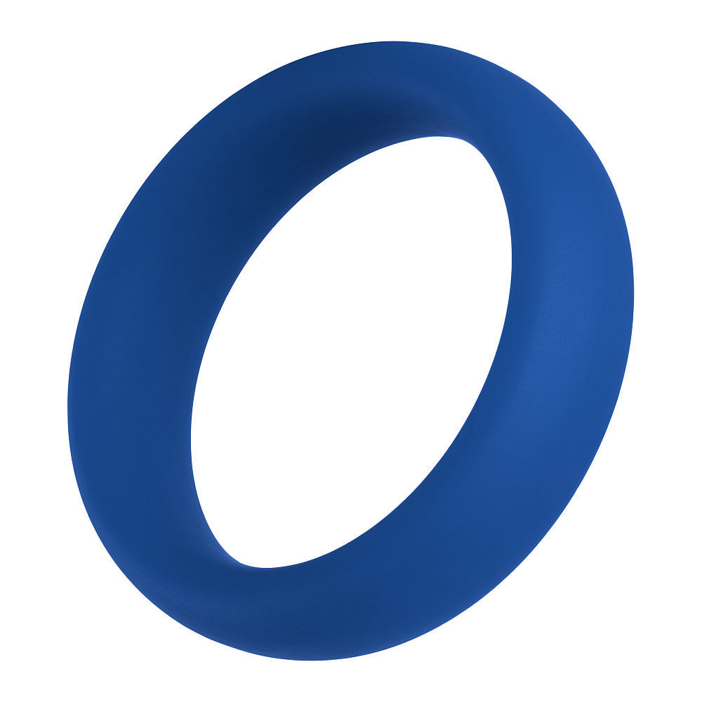 Image de F-64:  45MM 100% SILICONE RING WIDE - Bleu Medium