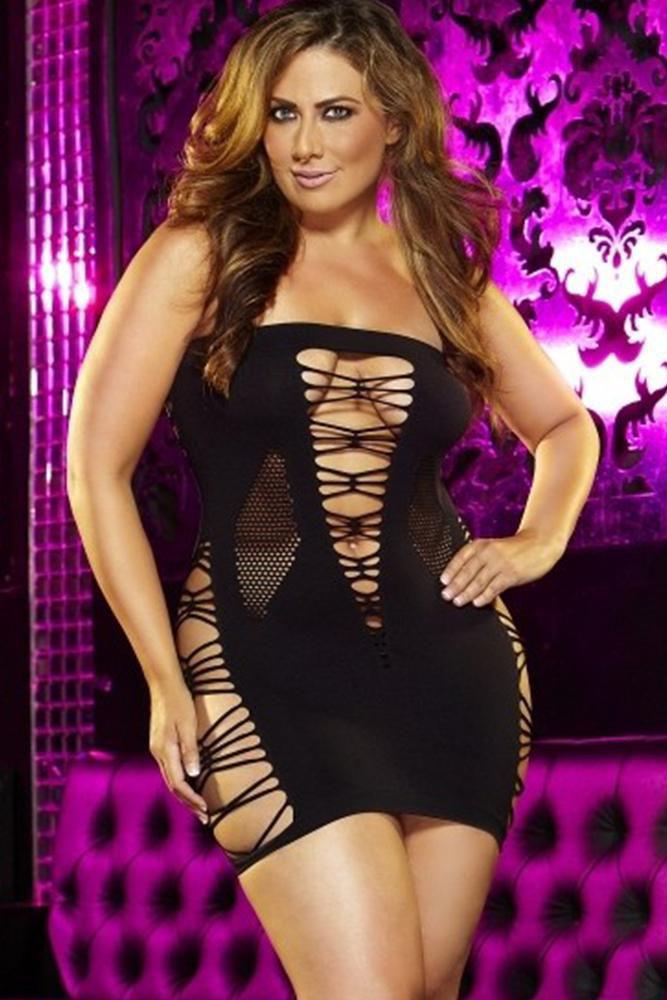 Image de Backroom Black Mini Dress - OS/XL