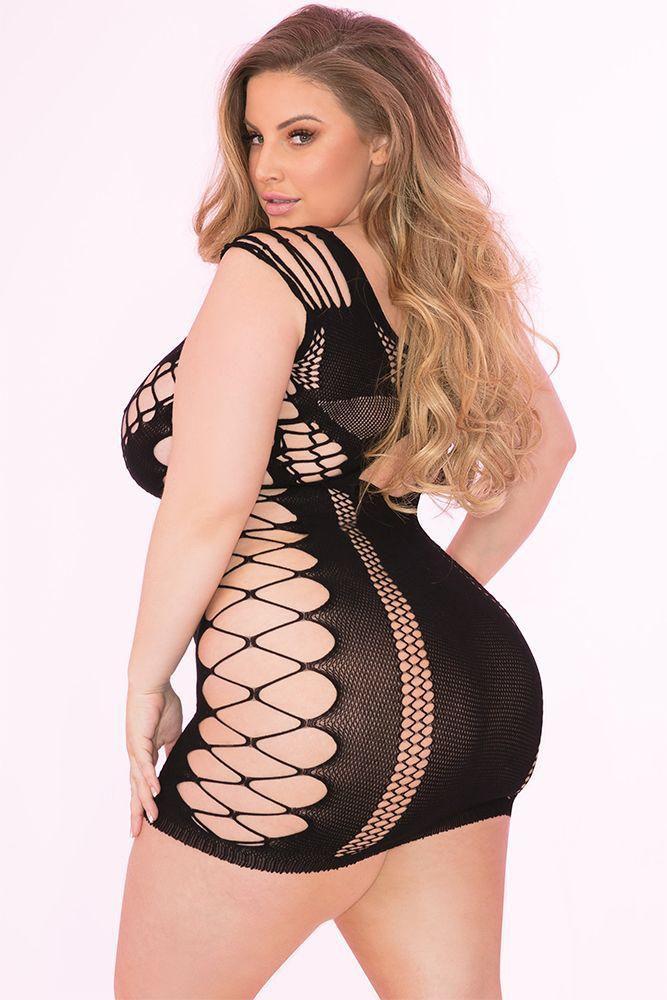 Image de Full of Shred Black Mini Dress - OS/XL