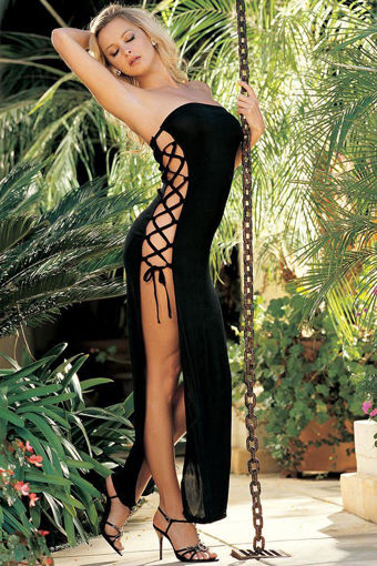 Image de Slinky Dress with Lace-up Sides - OS