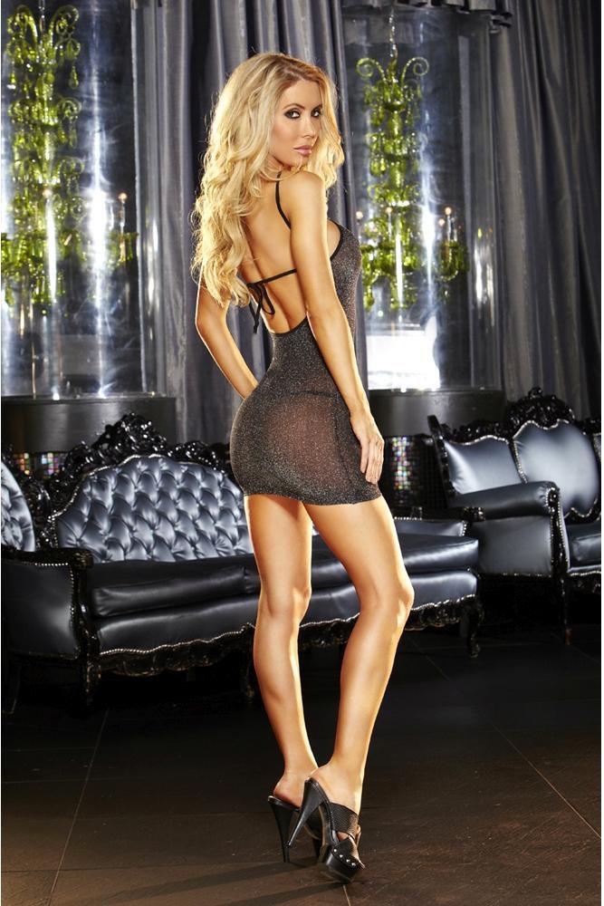 Image de VIP Black Mini Dress - OS