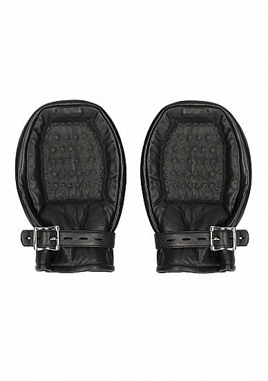 Image de Bondage Mittens Padded With Metal Teeth - Black- Pain by shots