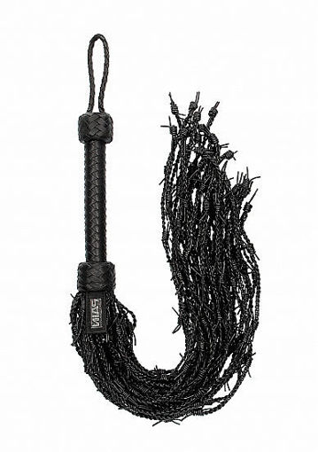 Image de Leather Barbed Wire Flogger - Noir - Pain by Shots