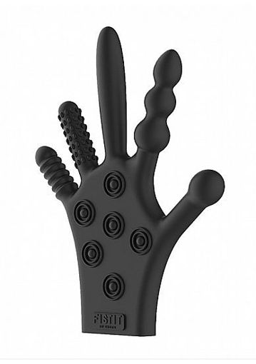 Image de Silicone Stimulation Glove - Black- Fist it - Shots
