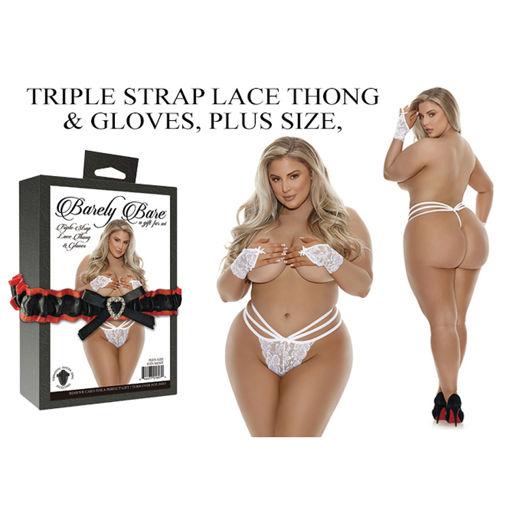 TRIPLE-STRAP-LACE-THONG-GLOVES-PLUS-SIZE-WHITE