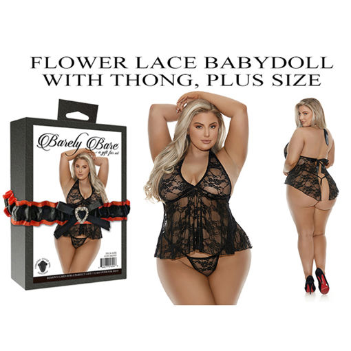 FLOWER-LACE-BABYDOLL-WITH-THONG-PLUS-SIZE