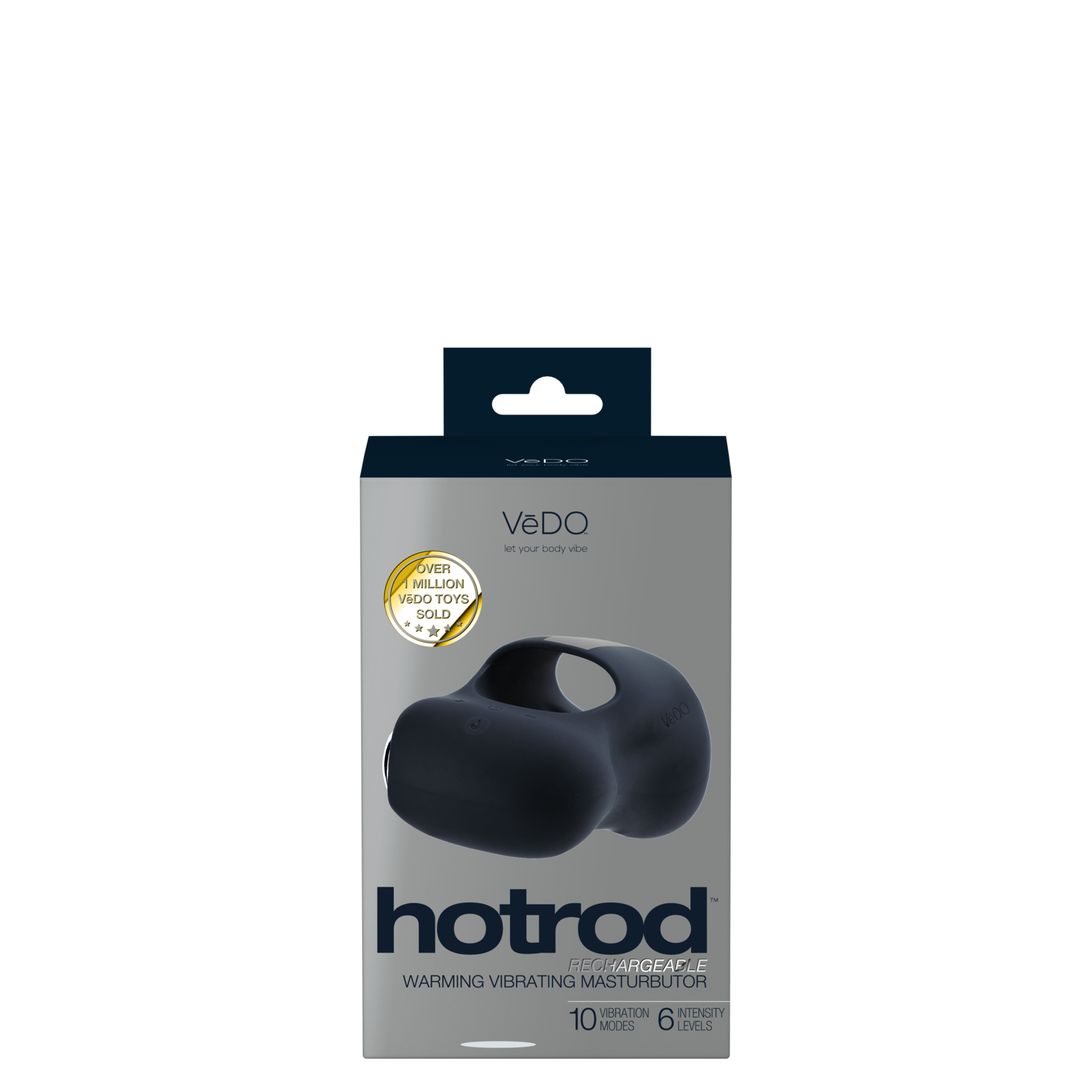 Image de Hot Rod Rechargeable Warming Stroker- Black- Vedo