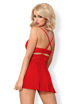 Image de 838-BAB - Babydoll & Matching Thong (In Red & Black) - XXL
