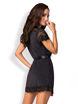 Image de 810-PEI-1 - Elegant Black Lace Robe - S/M