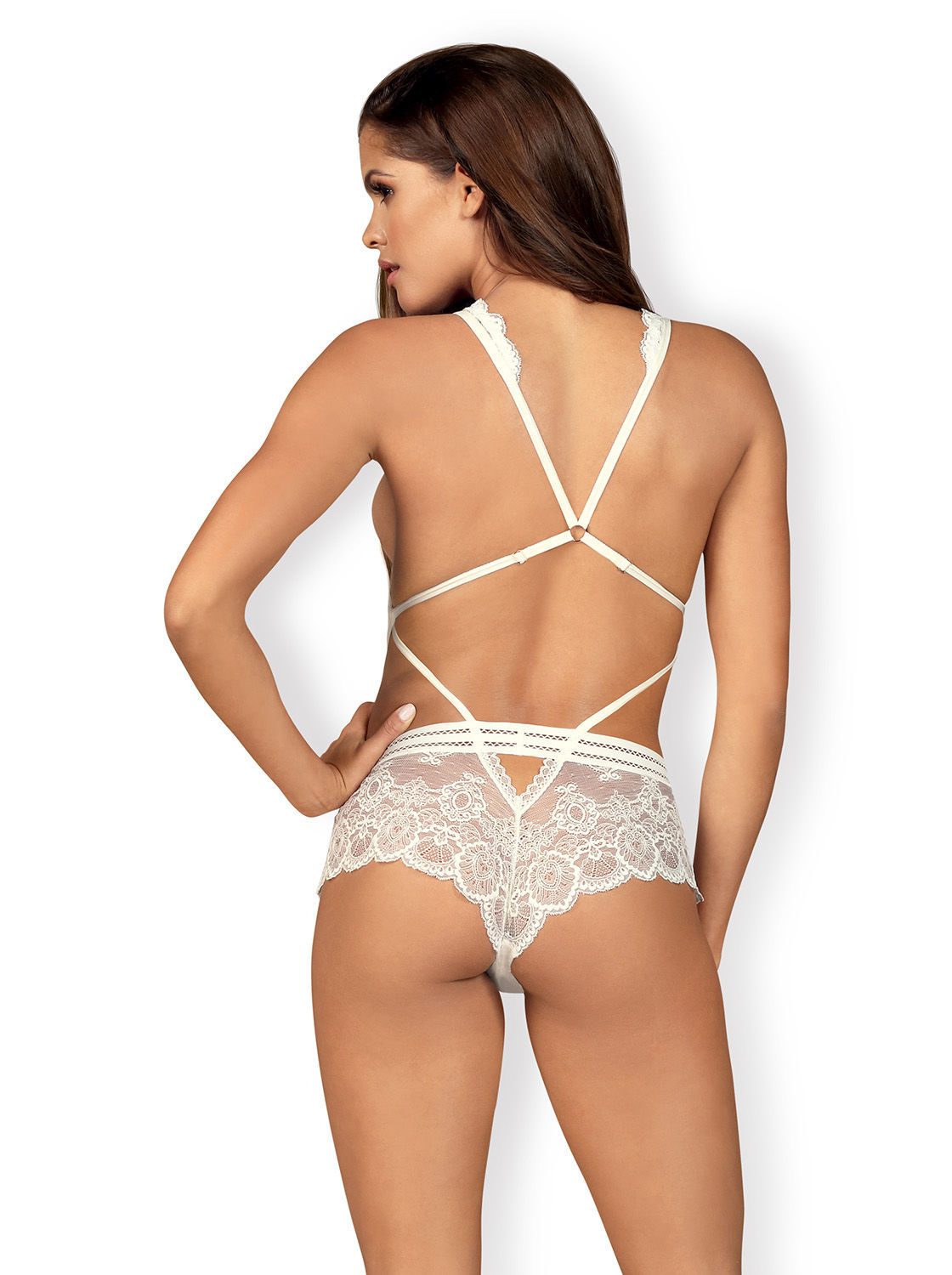 Image de 853-TED - Lacy, White Teddy - S/M