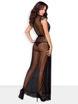 Image de 876-PEI-1 - Elegant Long Robe & Matching Thong - L/XL