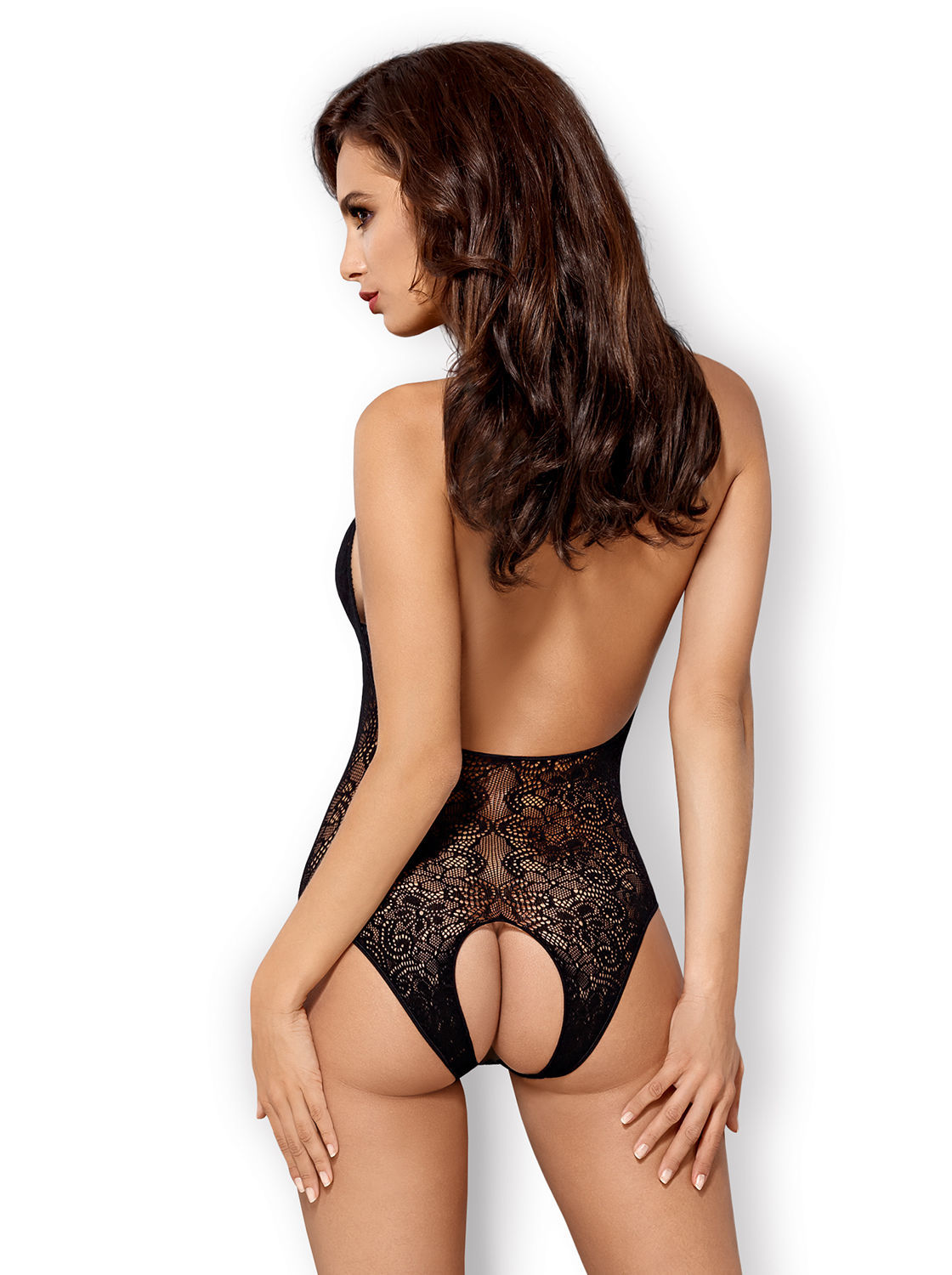 Image de B113 -  Crotchless Knitted Teddy - S/M/L