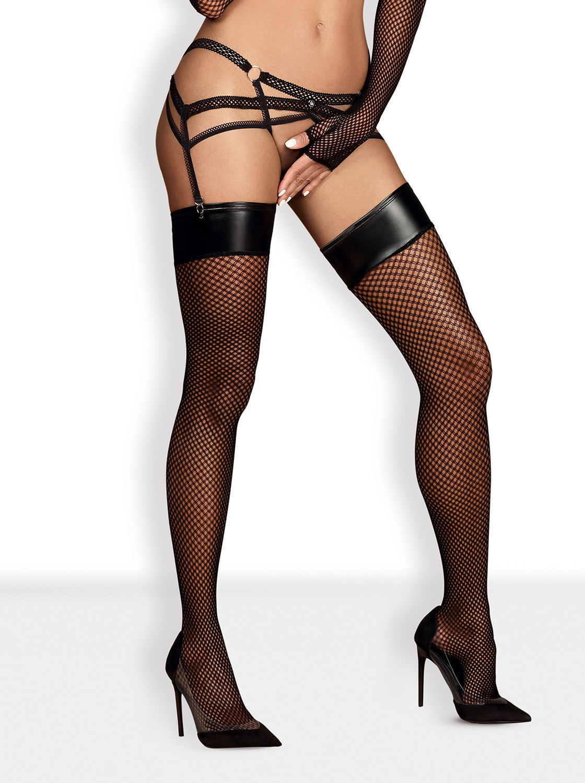 Image de Darkie - Wet Look Stockings - L/XL