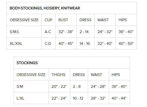Image de S800 - Premium Stockings (Black, Red, White, Ruby, Nude, Nude/White) - L/XL