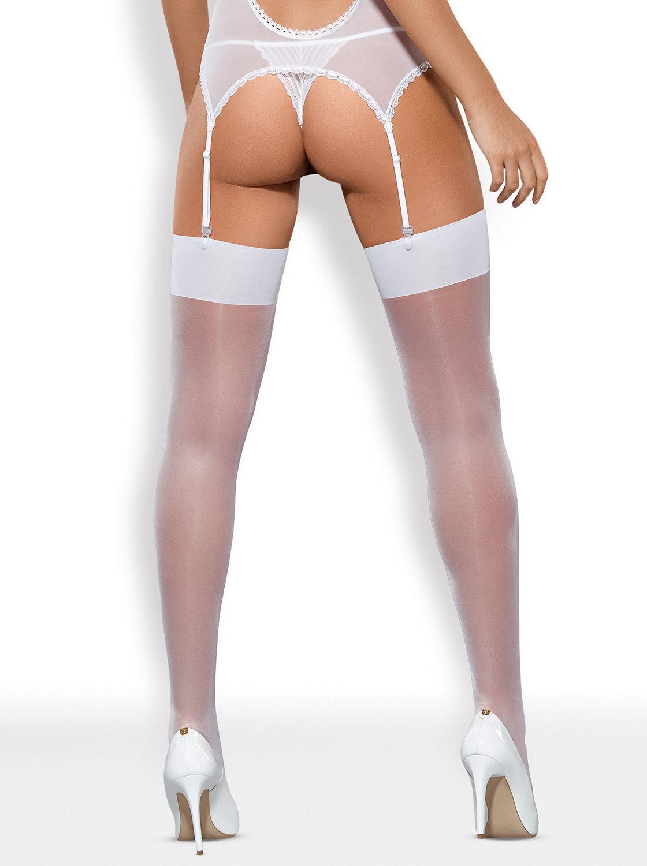 Image de S800 - Premium Stockings (Black, Red, White, Ruby, Nude, Nude/White) - S/M