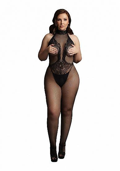Image de Fishnet and Lace Bodystocking - Black - OSX