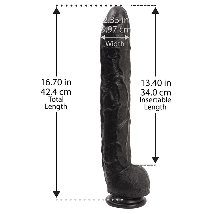 Dick-Rambone-Cock-17-Inch-BULK-Black