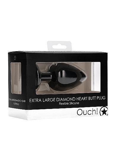 Image de Diamond Heart Butt Plug - Extra Large - Black - Ouch - Shots